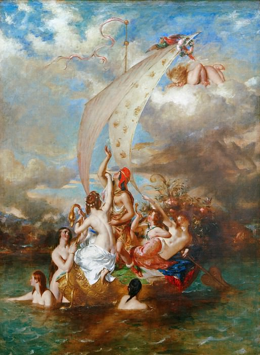 Youth on the Prow, and Pleasure at the Helm. William Etty