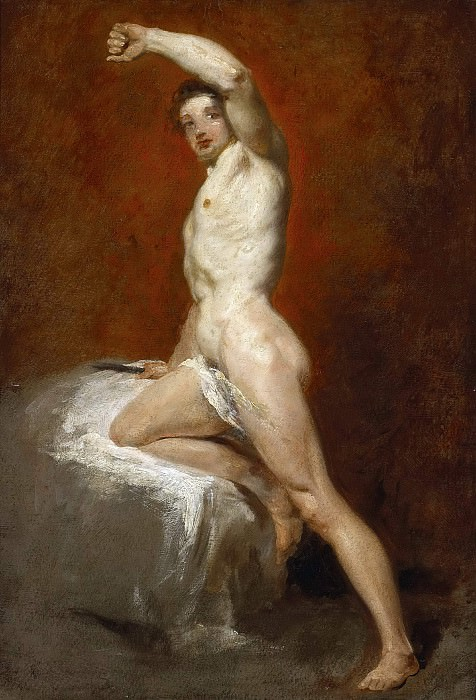 A study of a male nude. William Etty