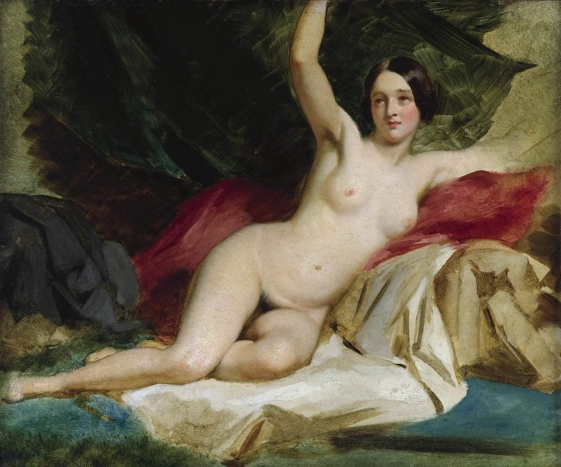 RECLINING FEMALE NUDE. William Etty