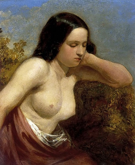 Head and Shoulders of a Woman. William Etty