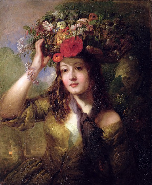 The Flower Girl. William Etty