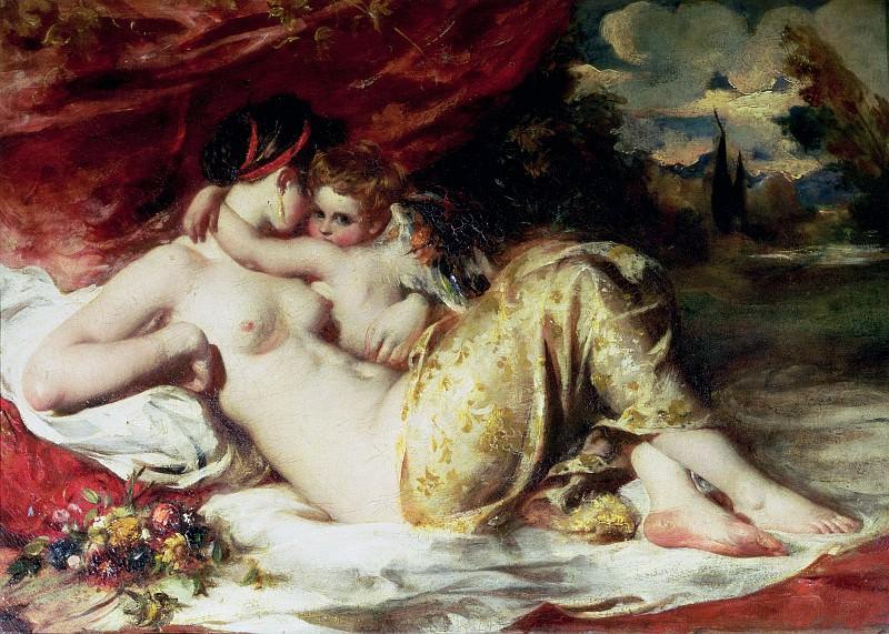 Венера и Купидон. Уильям Этти