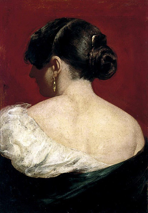 Head and Shoulders of a Girl, from behind. William Etty