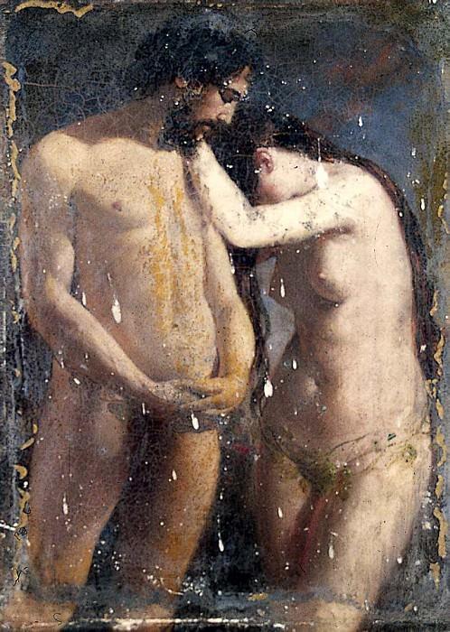 Adam and Eve (Sketch). William Etty