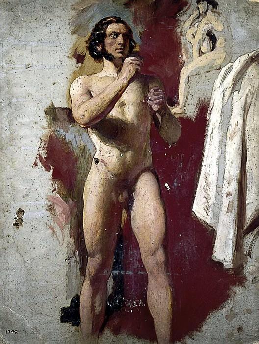 Male nude boxing. William Etty