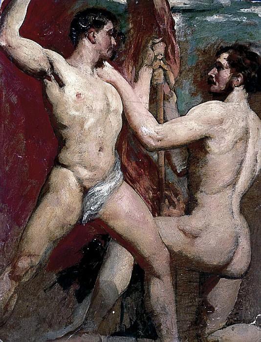 Two male nudes. William Etty