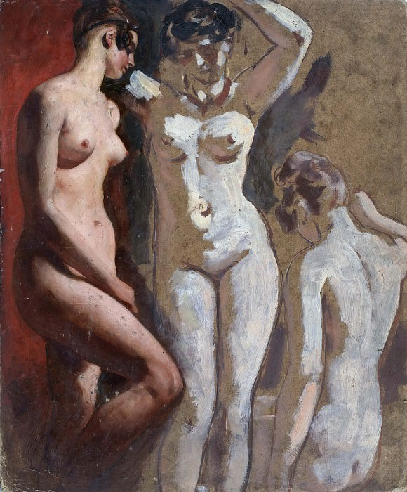 Three standing Female Nudes. William Etty