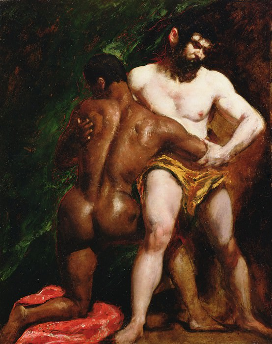 The Wrestlers. William Etty