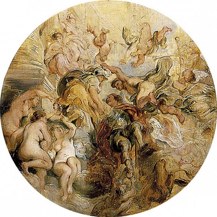 Apotheosis of the Duke of Buckingham, after Rubens. William Etty