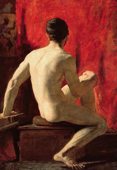 Seated Male Model. William Etty