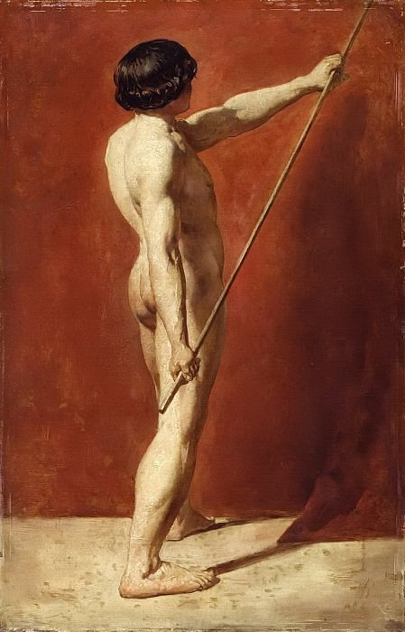 Male Nude with Staff. William Etty
