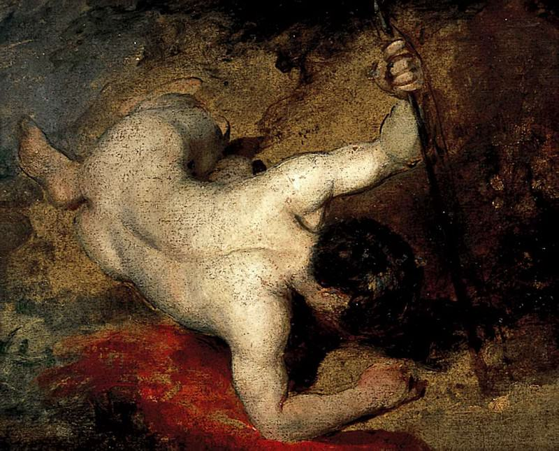 Reclining male Nude with Spear. William Etty