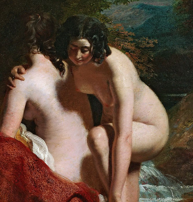 Two Girls Bathing. William Etty