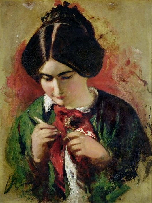Study for The Crochet-Worker (Mary Ann Purdon). William Etty