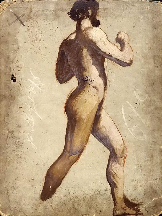 Male nude walking. William Etty