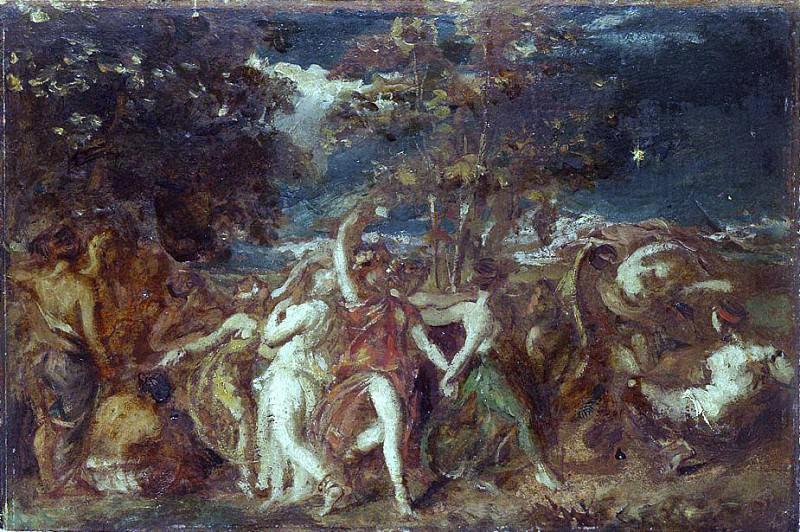 Земля до потопа (эскиз). Уильям Этти