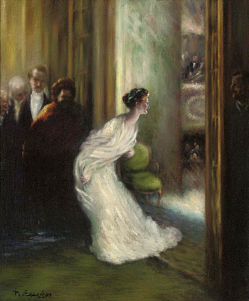 A Curtain Call At The Opera. Delphin Enjolras
