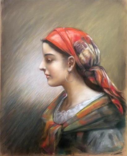 Portrait De Femme. Delphin Enjolras