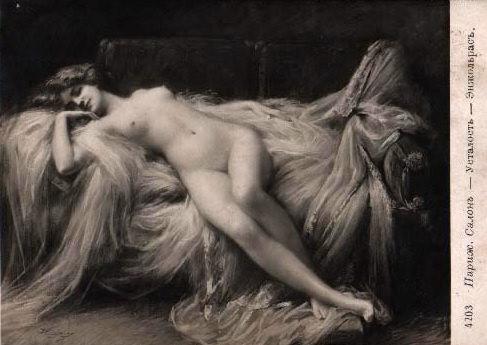 Nude Belle Lady On Divan. Delphin Enjolras