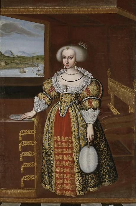 Kristina (1626-1689), Queen of Sweden. Jacob Heinrich Elbfas (Attributed)