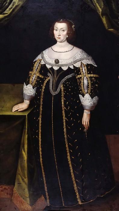 Katarina (1584-1638), Princess of Sweden Palatinate Countess of Zweibrücken. Jacob Heinrich Elbfas (Attributed)
