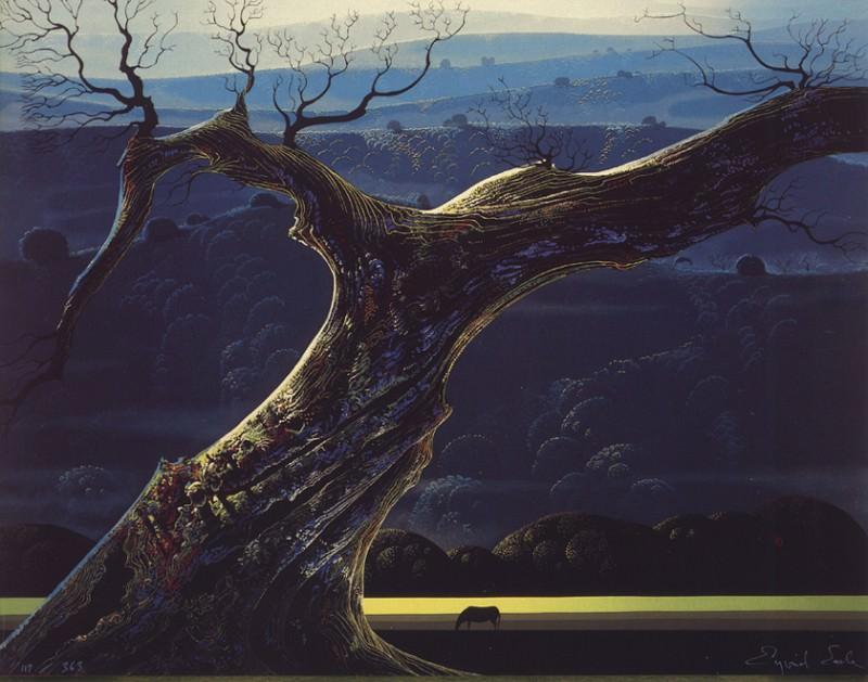 bs-Eyvind Earle-Towering Oak. Earle Eyvind