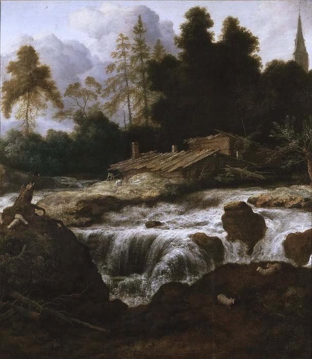 Landscape with a Waterfall. Allaert van Everdingen