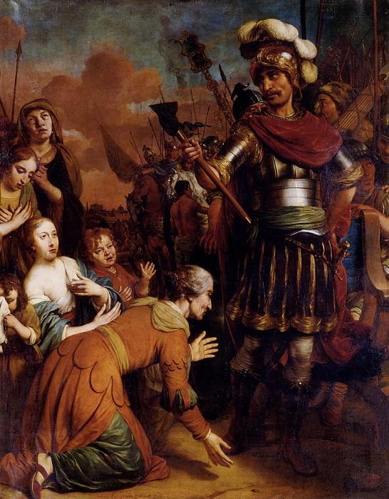 Volumnia Pleading With Her Son Coriolanus To Spare Rome. Gerbrand van den Eeckhout