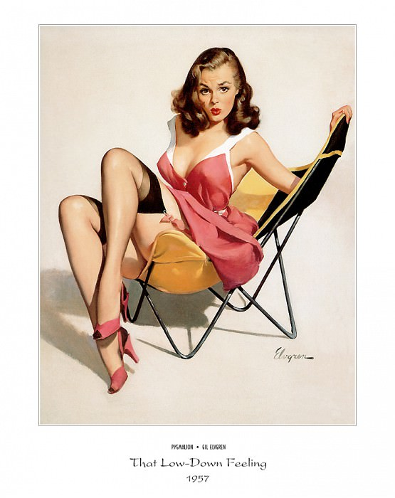 PYG GE 031 That Low Down Feeling Who Me 1957. Gil Elvgren