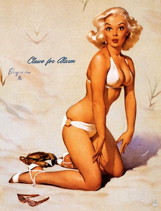 ma Elvgren Claws For Alarm. Gil Elvgren