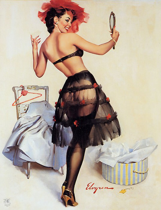ma Elvgren Just Right. Gil Elvgren