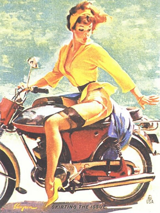 GCGEPU-142 1956 Skirting the Issue. Gil Elvgren