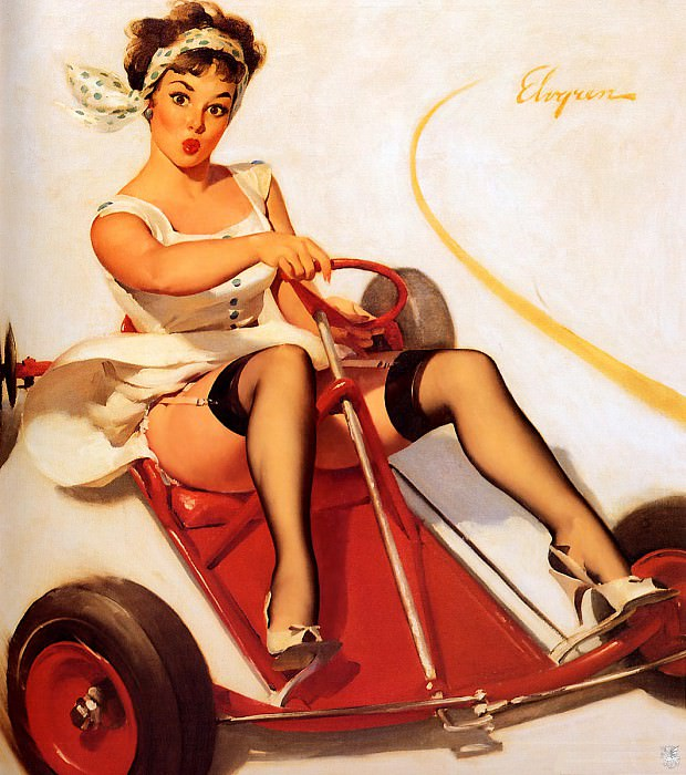 ma Elvgren Curving Around. Gil Elvgren