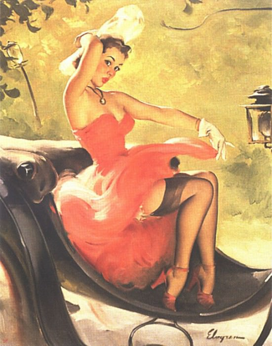 GCGEPU-129 1950 Up in Central Park. Gil Elvgren