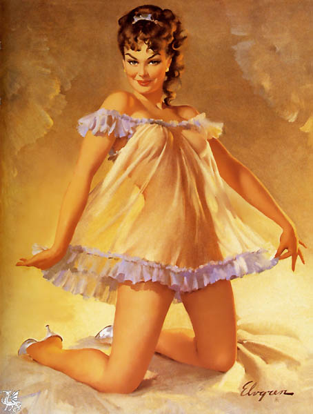 ma Elvgren Measuring Up. Gil Elvgren