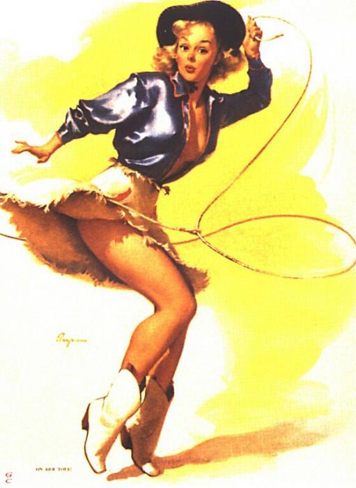GCGEPU-012 1954 On Her Toes!. Gil Elvgren