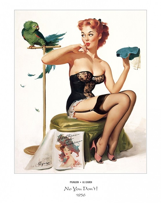 PYG GE 005 No You Dont Time for Decision 1956. Gil Elvgren
