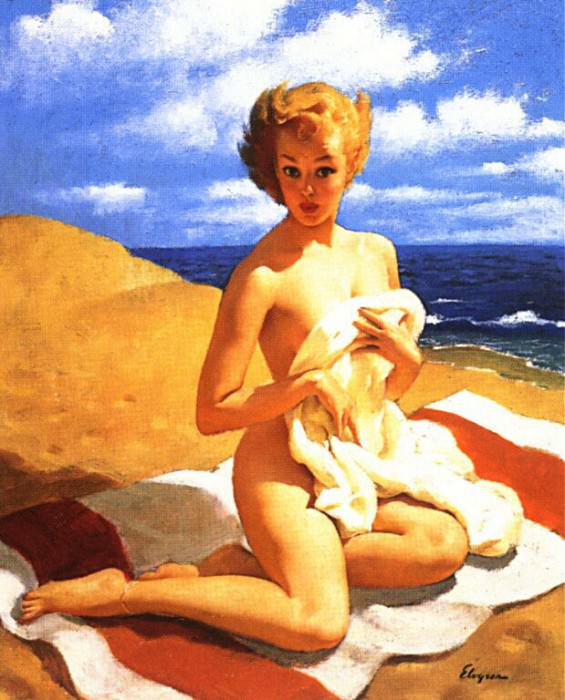 GCGEPU-146 1950 Blanket Coverage. Gil Elvgren
