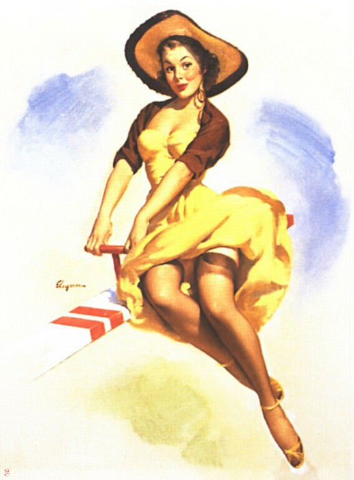 GCGEPU-078 1954 Well Balanced. Gil Elvgren