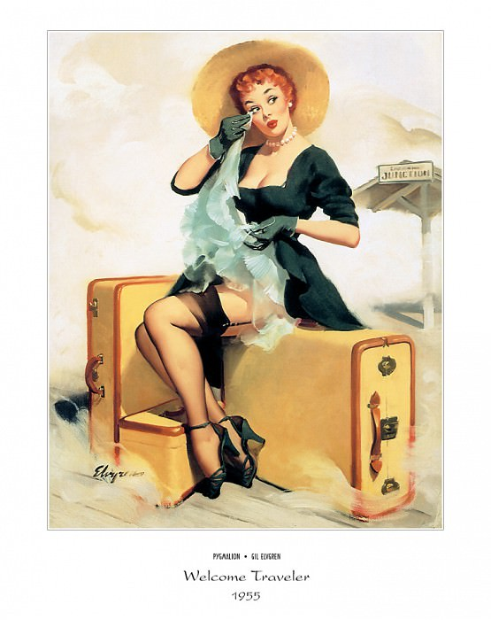 PYG GE 047 Welcome Traveler 1955. Gil Elvgren