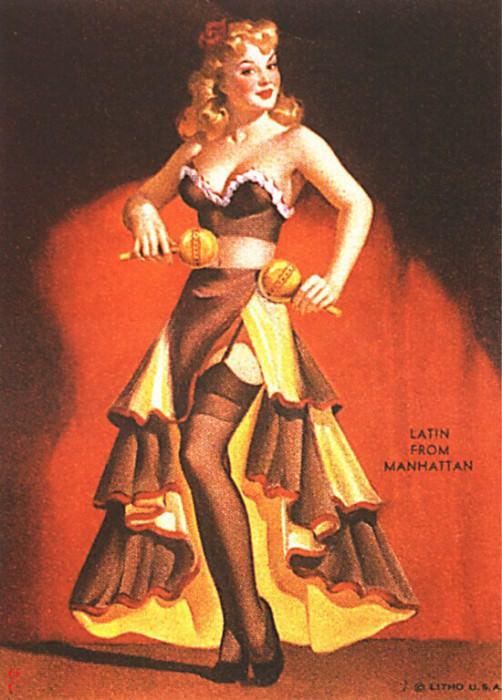 GCGEPU-048 1944 Latin from Manhattan. Gil Elvgren