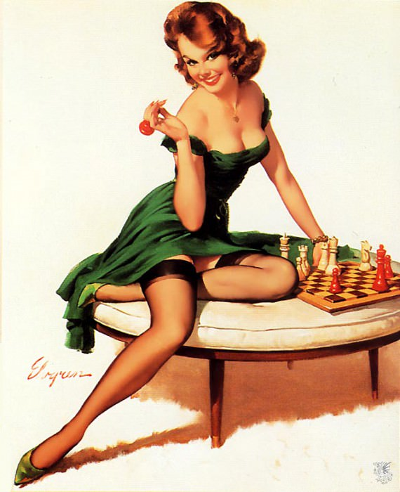 ma Elvgren Your Move. Gil Elvgren