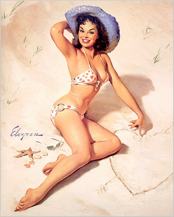 Cos 059 Gil Elvgren Just for You. Джил Элвгрен