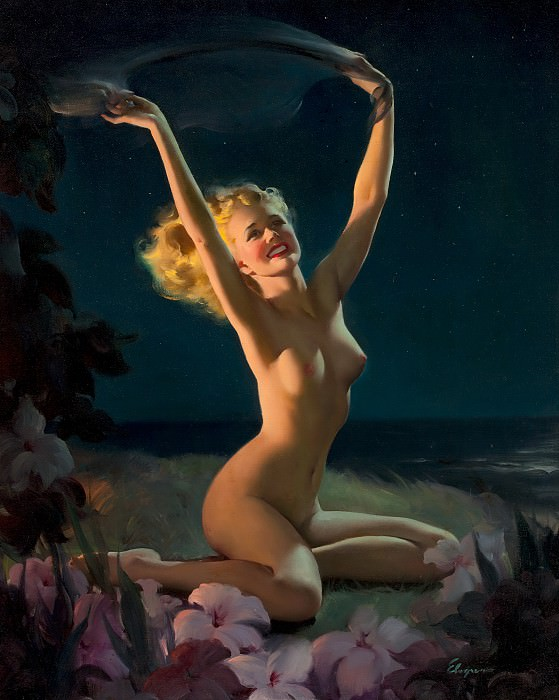 Gay Nymph (1947) oil on canvas. Gil Elvgren