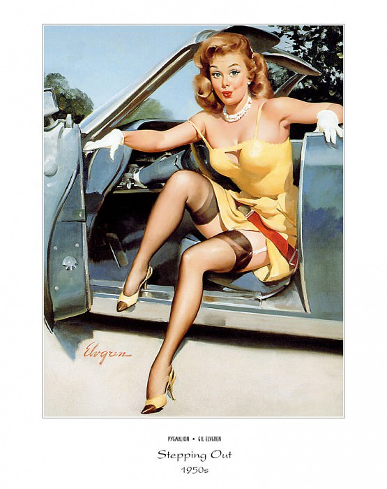 PYG GE 032 Stepping Out Stepping High 1950s. Gil Elvgren