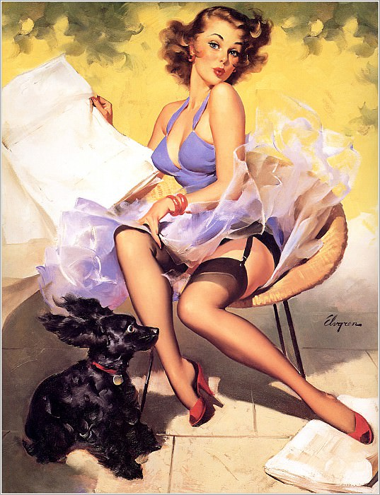 Cos 055 Gil Elvgren Hold Everything. Джил Элвгрен