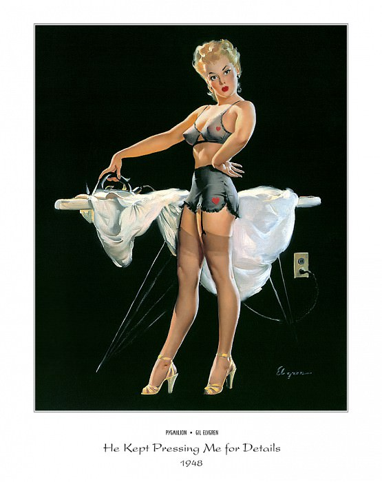 PYG GE 026 He Kept Pressing Me for Details 1948. Gil Elvgren