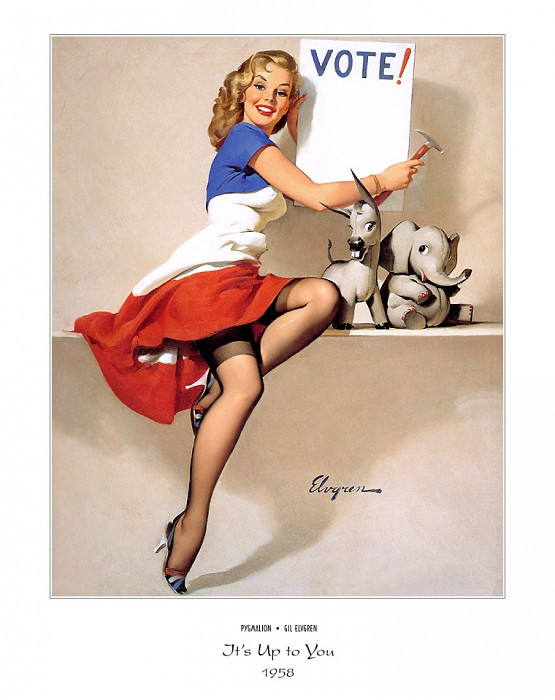 PYG GE 057 Its Up to You 1958. Gil Elvgren