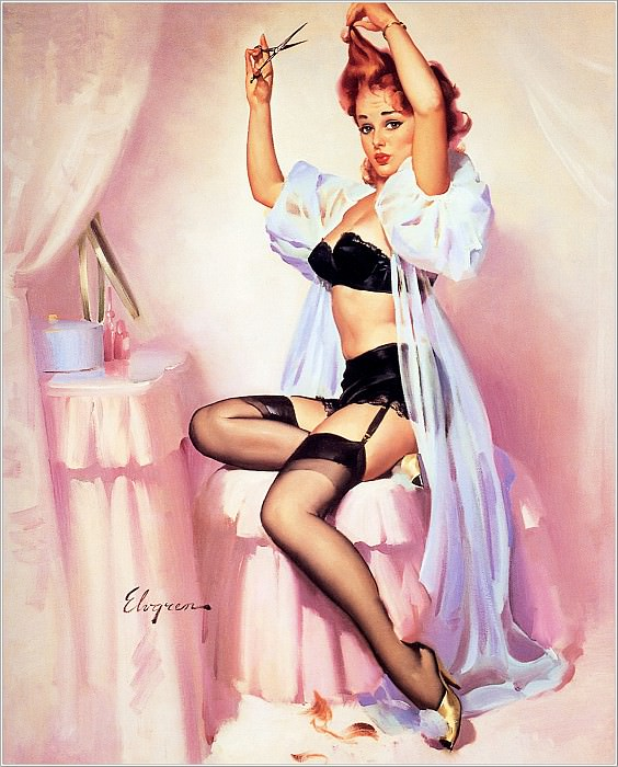 Cos 013 Gil Elvgren Hairline Decision. Gil Elvgren