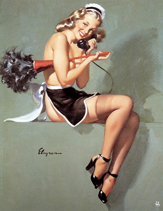 ma Elvgren I Gave Him the Brush Off. Gil Elvgren